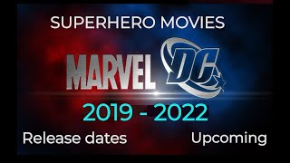 Upcoming SUPERHERO MOVIES DC and Marvel 2018 to 2020 with Release Dates