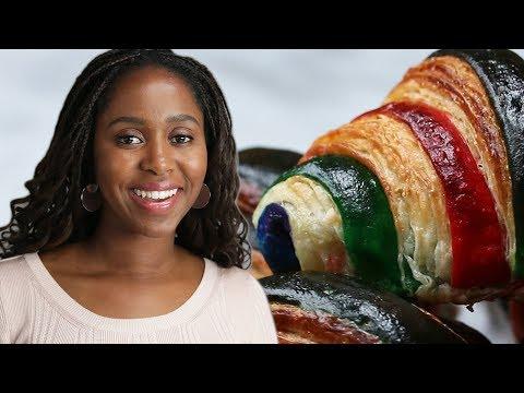 Making Rainbow Croissants: Behind Tasty
