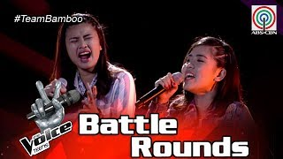 The Voice Teens Philippines Battle Round: Queenie vs. Patricia - Sound Of Silence
