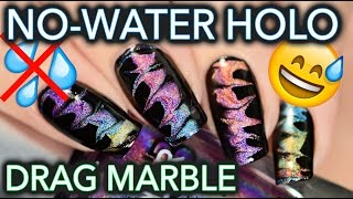 No-water holographic drag watermarble!!