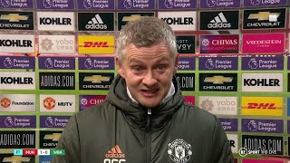 """""""A lot has been said and written!"""" Solskjaer reflects on Man Utd's first home league win this season"""