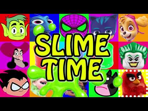 PJ Masks Slime Time Game with Play-Doh Spiderman, Paw Patrol, Dory, Teen Titans Go Surprise Toys