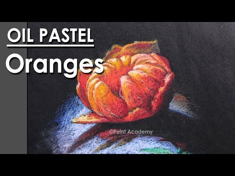 How to Draw Oranges in Oil Pastel