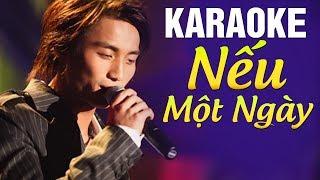 [Karaoke] Nếu Một Ngày - ĐAN NGUYÊN   Beat Chuẩn Tone Nam