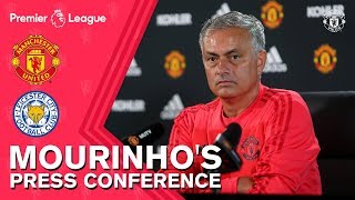 Mourinho's Press Conference   Manchester United v Leicester City