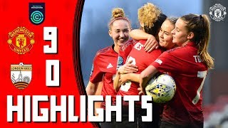 Manchester United Women 9-0 London Bees | Highlights | FA Women's Championship
