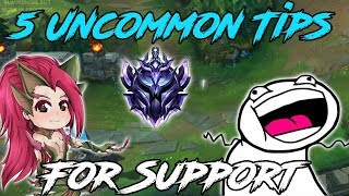 5 Uncommon Support Tips For Season 9! (Support Guide Season 9) League of Legends 2019