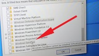 حل مشكلة عدم تشغيل ميزة النظام الوهمي Windows Sandbox  ...