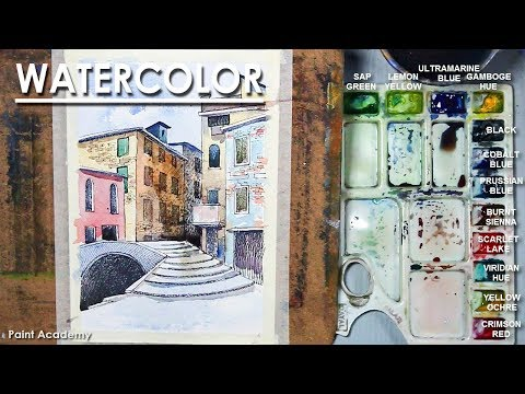 Watercolor Line and Wash : Old Villages of Venice