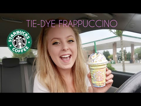TIE-DYE FRAPPUCCINO || FIRST IMPRESSION || NEW STARBUCKS DRINK