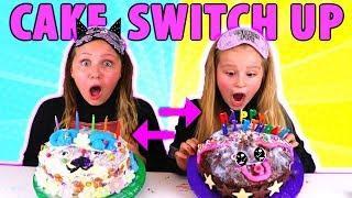 MYSTERY BOX BIRTHDAY CAKE SWITCH UP CHALLENGE!!