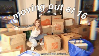 MOVING OUT AT 16 (I spent 8 hours in IKEA...) | vlog #1