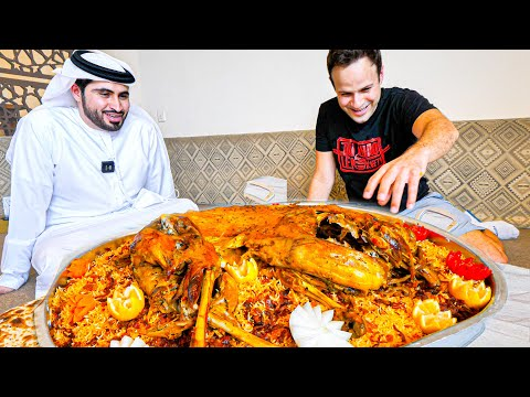 EXTREME Food in Dubai – GIANT Yemeni GOAT PLATTER COOKING!!! The cooking process is amazing!!