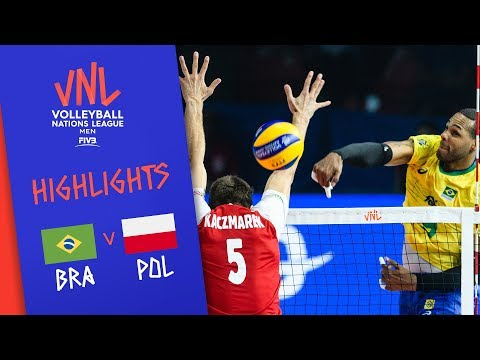 BRAZIL vs. POLAND - Highlights Men | 3rd Place | FIVB Volleyball Nations League 2019