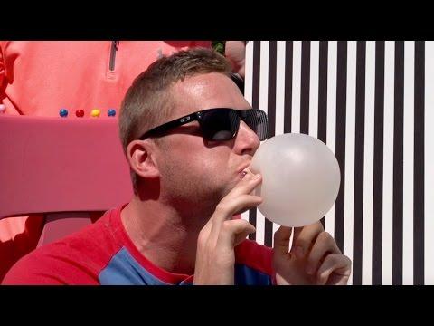 Bubble Gum Blowing Battle | Dude Perfect