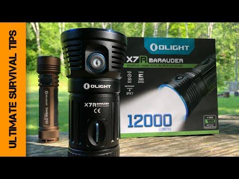 CRAZY! Monster 12,000 Lumen Tactical Flashlight - OLIGHT X7R Marauder - REVIEW - Best Flashlight?