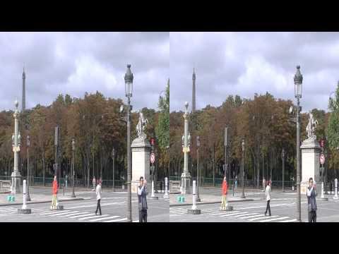 Paris, Champs Elysées, Place de la Concorde, Jardin de Louvre 3D HSBS