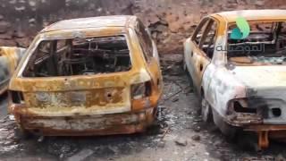 الموصلية توثق انتهاكات داعش بحرق عجلات المدنيين بمنطقة العكيدات ...