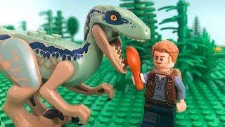 LEGO Jurassic World STOP MOTION LEGO Jurassic World: Velociraptor Rescue | LEGO | By Billy Bricks