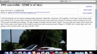 Craigslist Minnesota Used Cars for Sale by Owner - YouTube