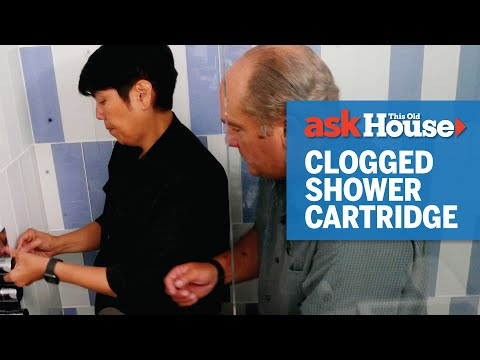 How to Clean a Clogged Shower Cartridge | Ask This Old House