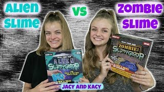 Alien Slime vs Zombie Slime ~ Save or Spend ~ Jacy and Kacy