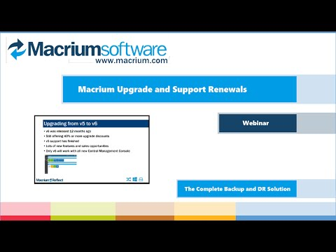 Macrium Upgrade and Renewal Training for MVP Resellers