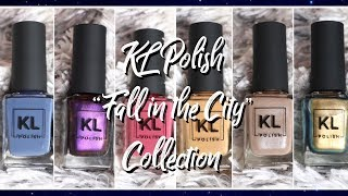 KL Polish: Fall in the City collection Swatches + Color Comparisons