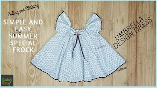 How to Make Ruffle Baby Dress | Cutting and Stitching