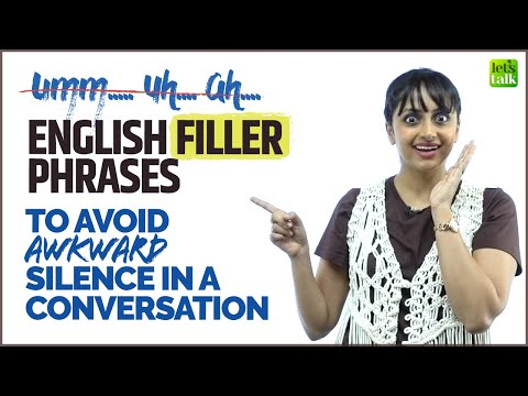 Stop Umm.. Uh…| English Filler Phrases To Avoid Awkward Silence In Conversation | English With Meera