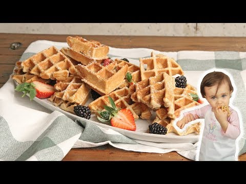 Blender Waffles Recipe (Mia Approved!)   Episode 1255