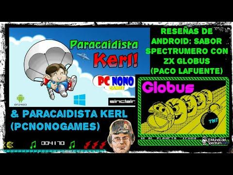 Reseñas de Android: Sabor Spectrumero - ZX Globus (Paco Lafuente) & Paracaidista Kerl (PCNONOgames)
