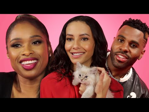 """The Cast of """"Cats"""" Play With Kittens While Answering Fan Questions"""