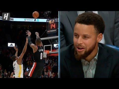 Damian Lillard EPIC Game-Tying Three - Warriors vs Blazers | January 20, 2020