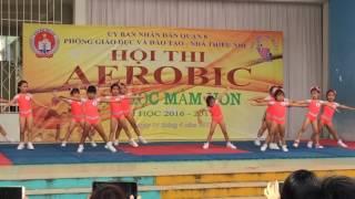 """Bài thi Aerobic """"LK Chú Ếch Con"""" trường mầm non Hoàng Mai 3"""