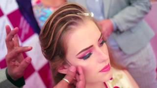 Anurag Makeup Mantra Gurukul  International Hair Class, model makeup and petal hairstyle. Students