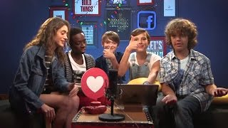 Millie Bobby Brown and Stranger Things cast - 80s Trivia + Q&A @ Facebook Live