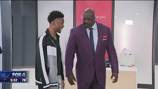 Shaquille O'Neal surprises Dallas student for his work both on and off the court