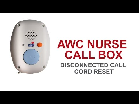 Nurse Call Box-Basic Maintenance: Disconnected call cord