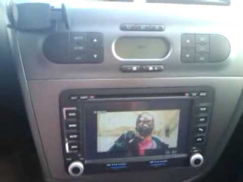 radio dvd gps para seat leon 2 youtube. Black Bedroom Furniture Sets. Home Design Ideas
