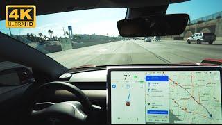 Current State of Tesla Autopilot | 4K | LA Traffic