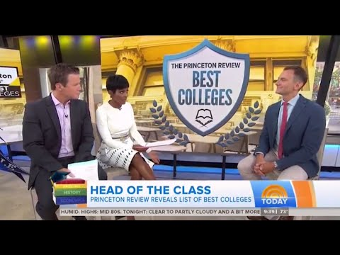 "NBC ""TODAY"" - Best colleges for financial aid, quality of life, more"
