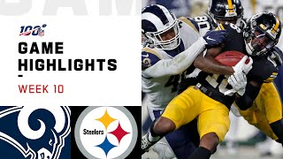 Rams vs. Steelers Week 10 Highlights | NFL 2019