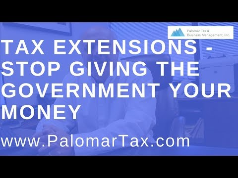 Tax Extension Advice 2017 - San Diego Bookkeeping Accounting Firm
