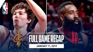 Full Game Recap: Cavaliers vs Rockets | James Harden Records A 40 Point Triple-Double