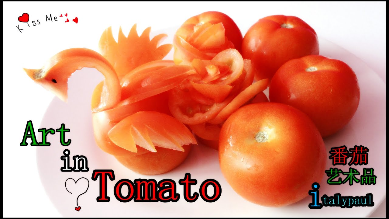 Vegetable Carving With Tomato Art In Tomato S...
