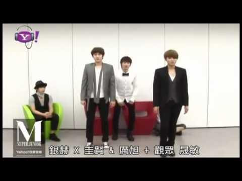 [ENG] 110618 Eunhyuk teaching KyuWook Perfection Dance Moves w SJM @ Yahoo Music