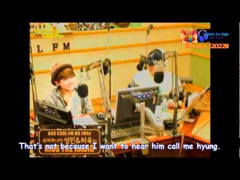 [ENG] Ryeowook-Kyuhyun quarreled because Kyuhyun born at the start of the year.