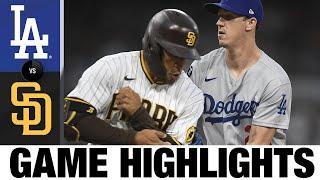 Dodgers vs. Padres Game Highlights (8/25/21) | MLB Highlights