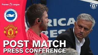 Jose Mourinho Post Match Press Conference   Brighton 3-2 Manchester United